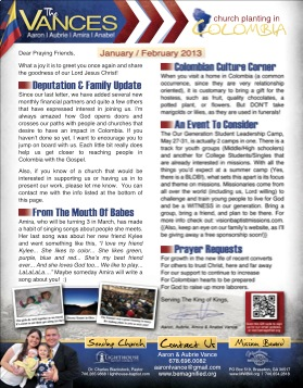 Click on the icon to see the print version of our prayer letter (with pictures)