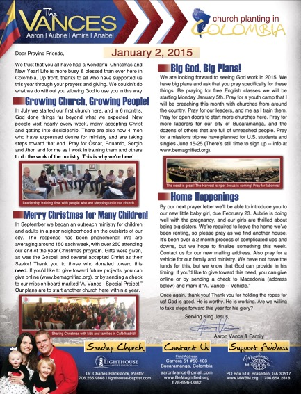 Click to see a printable PDF of this prayer letter (with pictures!)