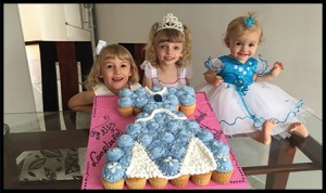 Amira, Anabel & Aris on Anabel's 4th Birthday.