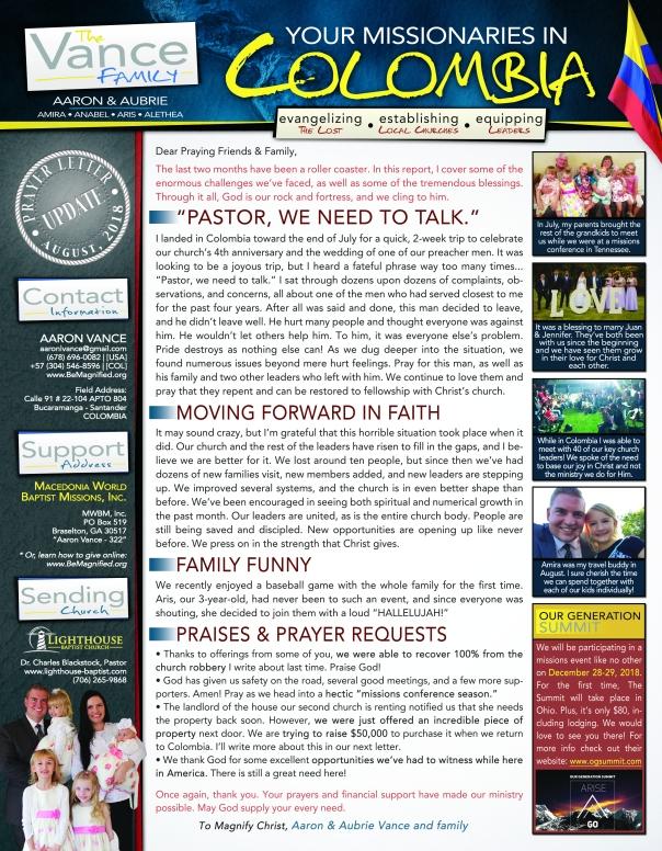 08-2018 prayer letter